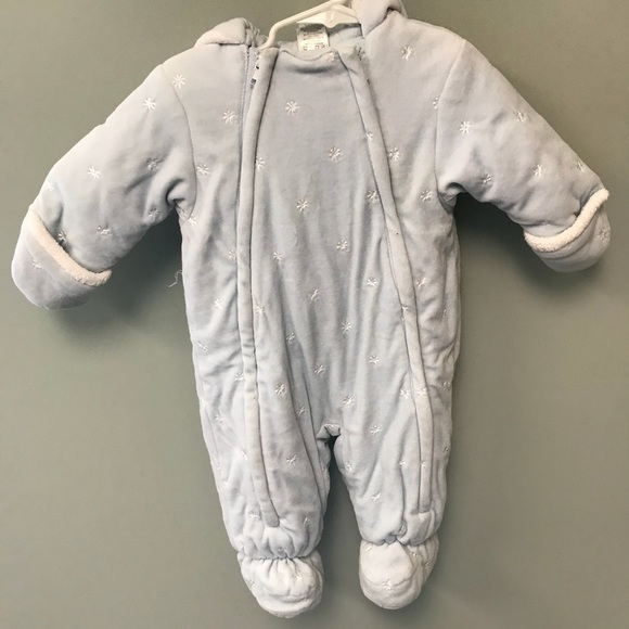 b15711109 Absorba Jackets & Coats | Light Blue Baby Snow Suit For Winter ...
